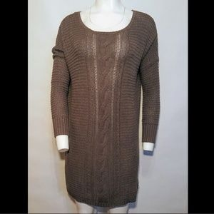 Roxy Sweater Dress Long Sleeve Cable Thin